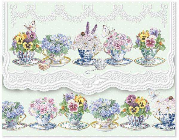 Pansy tea cup